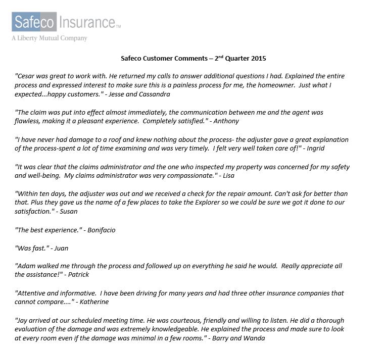 Curious On Claim Reviews For Safeco Insurance Denver Insurance Llc