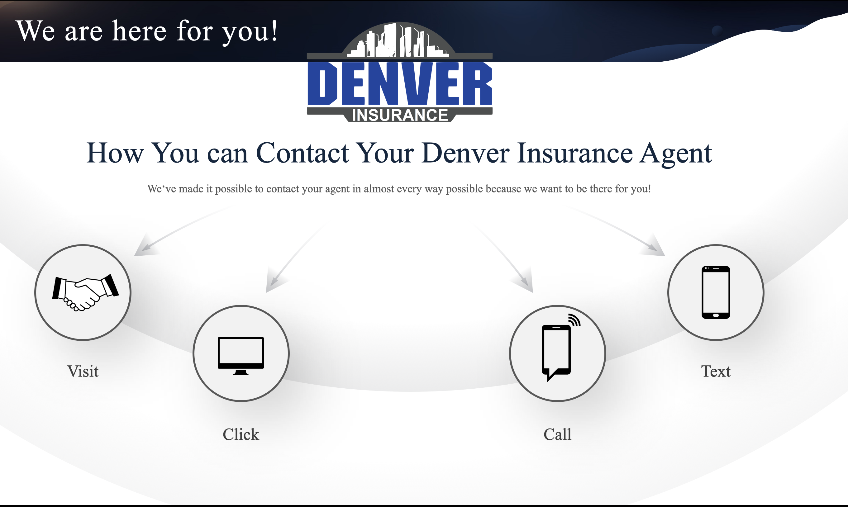 You can contact your Denver Insurance Agent 4 ways